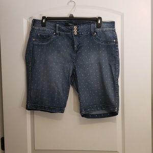 Torrid Polka Dot Bermuda Shorts
